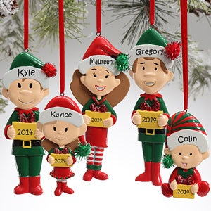Winter Family Character Personalized Ornaments  - 9397
