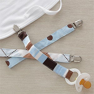 Boys Pacifier Clips - Set of Three - 9400