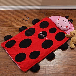 Personalized Kids Sleeping Bag - Ladybug Nap Mat - 9409