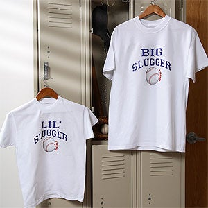 Personalized Father & Son Baseball Shirts and Clothing - 9418