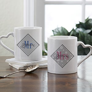Personalized Coffee Mug Set - Mr and Mrs Collection - 9422