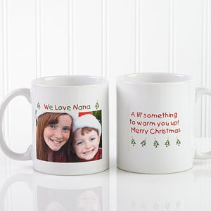 Personalized Loving You Photo Holiday Ceramic Mug - 9426