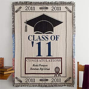 Personalization Mall Personalized Class of 2011 Embroidered Graduation Afghan at Sears.com