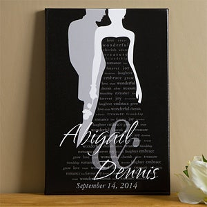 Personalized Wedding Canvas Art - Wedding Couple - 9449