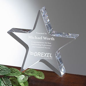 Personalized Corporate Custom Logo Star Achievement Award - 9464