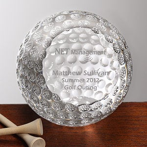 Personalized Corporate Engraved Logo Crystal Golf Ball Award - 9466