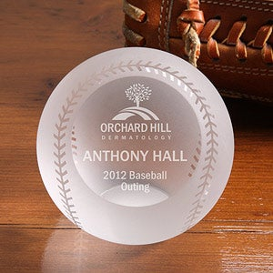 Personalized Corporate Custom Logo Crystal Baseball Award - 9467