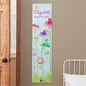 Personalization Mall Personalized Growth Chart for Girls - Flowers & Butterflies at Sears.com