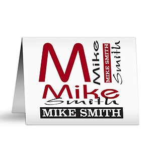 Personalized Note Card Stationery - Personally Yours - 9540