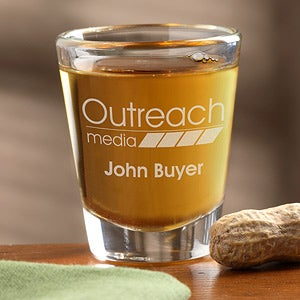 Personalized Corporate Engraved Logo Shot Glass - 9562