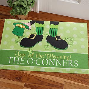 Personalized St Patrick's Day Doormat - Leprechaun - 9566