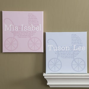 Personalized Baby Nursery Canvas Art - All About Baby - 9568