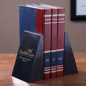Personalized Corporate Engraved Logo Executive Bookends - 9573