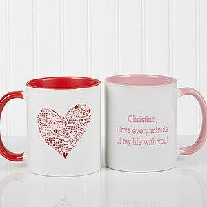 Personalized Heart Romantic Coffee Mug - 9585