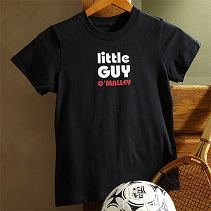 Personalization Mall Personalized Kids Black T Shirt - Big Guy and Little Guy Collection at Sears.com