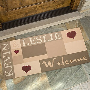 Personalized Doormats - Welcoming Hearts - 9595