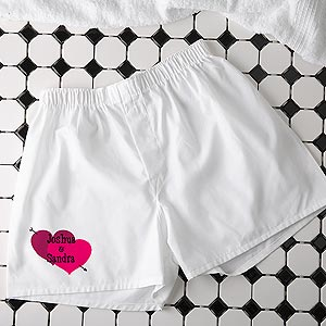 Personalization Mall Personalized Valentine's Day Boxer Shorts - Shared Heart at Sears.com