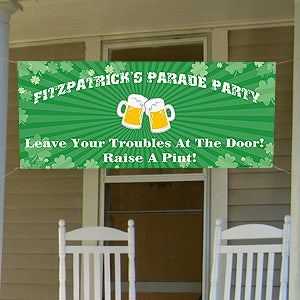 Personalized St Patrick's Day Party Banner - 9665
