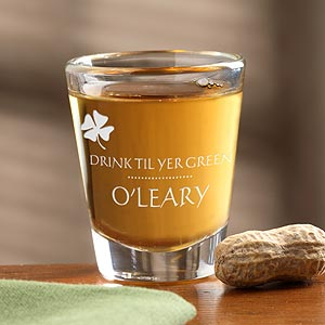 Personalization Mall Personalized St Patrick's Day Shot Glass - Drink Til Your Green at Sears.com