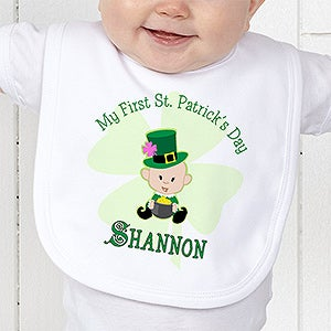Personalization Mall First St Patrick's Day Personalized Baby Bib at Sears.com