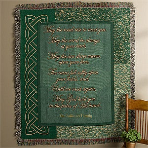 Personalization Mall Personalized Irish Blessing Afghan - May The Road Rise Up at Sears.com