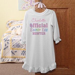 Personalization Mall Personalized Girls Easter Nightgown - Easter Egg Hunter at Sears.com