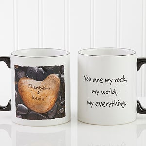 Personalized Coffee Mugs - Heart Rock - 9692