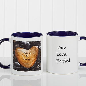 Personalized Coffee Mugs - Heart Rock - 9692
