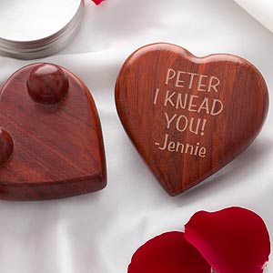 Personalized Heart Shaped Massager - Any Message - 9699