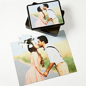 Personalized Photo Jigsaw Puzzle with Picture Tin - 9702