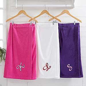 Monogrammed Ladies Terry Cloth Spa Towel Wrap - 9755