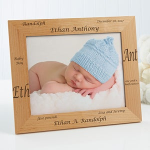 personalized newborn baby wood frame our new arrival collection 9769