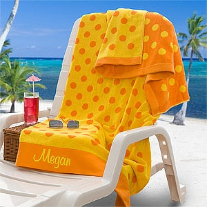 Personalization Mall Personalized Oversized Beach Towel - Yellow & Orange at Sears.com