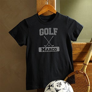 Personalization Mall Personalized Black Sports T-Shirt for Kids at Sears.com