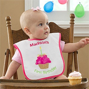 Personalization Mall First Birthday Personalized Baby Bib for Girls at Sears.com