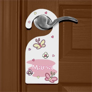 Personalized Sleepy Time Door Knob Hangers - 9820