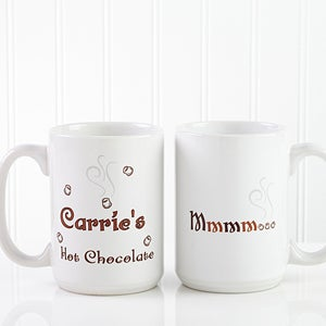 Personalized Hot Chocolate Mug Set - MMMM Good Design - 9822