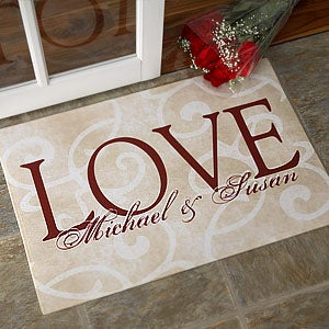 Personalized Doormat - Love Ever After Design - 9839