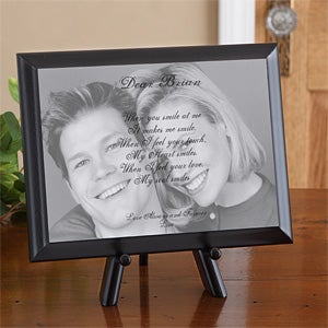 Personalized Photo and Poetry Plaque - Sentiments Of Us Design - 9840