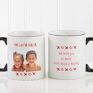 Personalized Loving You Photo Ceramic Coffee Mug - 9847