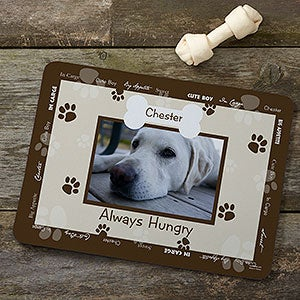 Personalized Dog Bowl Mats - Throw Me A Bone - 9852