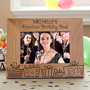 Personalized Birthday Party Picture Frame - Birthday Gifts - 9861