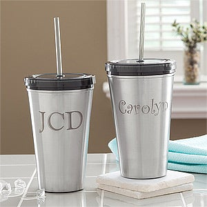 Personalized Stainless Steel Tumbler - On The Go - 9873