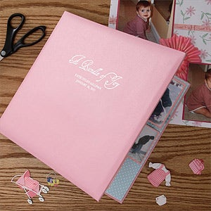 Personalization Mall Personalized Baby Scrapbook Album In Pink at Sears.com