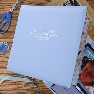 Personalization Mall Personalized Baby Scrapbook Album In Blue at Sears.com