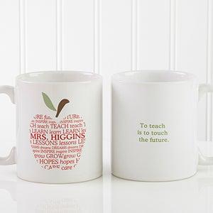 Personalized Coffee Mug for Teachers - Apple - 9915