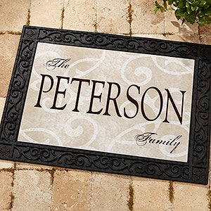 Personalized Doormats - Family Name Welcome Mat - 9927