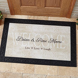 Personalized Door Mats - Live Love and Laugh Design - 9928