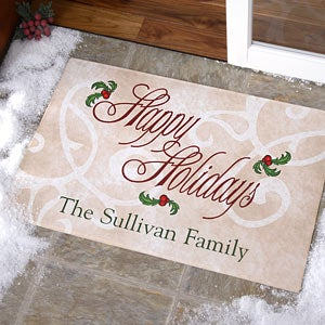 Personalized Door Mat - Tis The Season Design - 9941