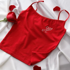 Personalized Camisole and Shorties Set - Rhinestone Monogram Design - 9953
